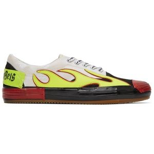 Palm Angels Multicolor Flames Low Top Sneakers 41
